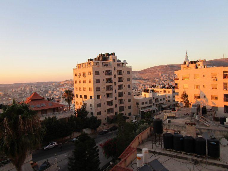 Abendrot in Nablus